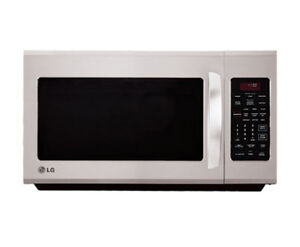 Micro-onde avec hotte LG stainless