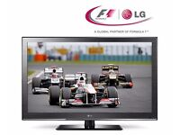 """LG 42"""" HD TV with built-in Freeview, like new - £175"""