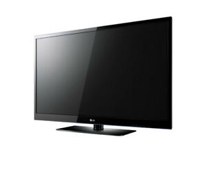 "50"" LG Plasma Flat-Screen TV w/ Swivel Stand"