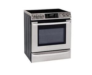 "LG LSE3092ST 5.4 cu.ft. 30"" Large Capacity Slide-In Electric Range with Dual True Convection System Stainless Steel"