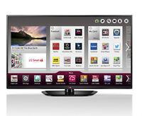 "LG 50"" SMART 1080P HD PLASMA TV 3 HDMI USB ONLY $450 SAVE BIG"