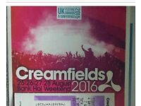 Creamfields Thursday to Monday