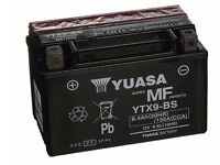 Motorcycle battery Yuasa YTX9-BS Battery, Black