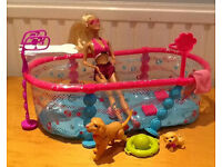 barbie dogs smimming pool