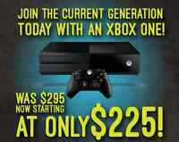 We've dropped our prices! Get an Xbox One today for only $225!