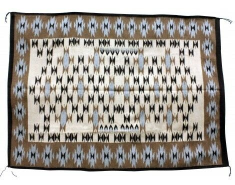 Alice Begay, Chinle Rug, Navajo Handwoven, 53 In X 70 In