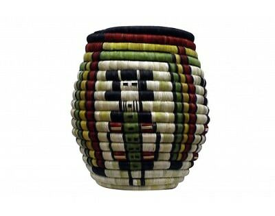 Regina Kagenvema, Hopi Coiled Basket, Maidens with Rainbow, 9'' x 8 7/8''