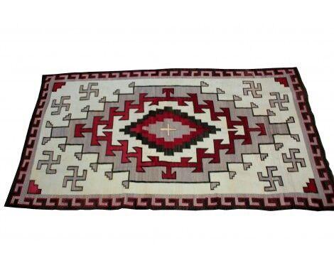 """Klagetoh Rug, Revival, Navajo Wool,  Circa 1930, 135"""" X 75"""""""