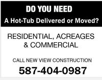 Picker Truck in Calgary For Hot Tub Delivery