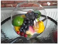 Large fish fruit bowl ornament artificial