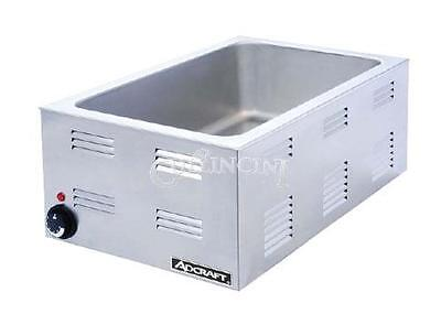 Adcraft Fw-1200w Countertop Food Warmer Portable Steam Table Full Pan Size120v