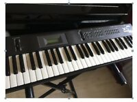 Korg X5D portable keyboard and stand