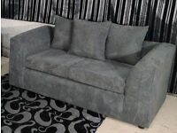Jumbo Cord 2 Seater Sofa GREY
