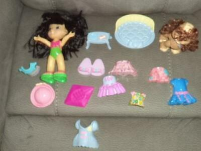 Fisher Price Snap N Style Doll Figure Clothes Shoes Dog Accessories 14 Pieces