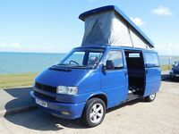 VW T4 Transporter 2.4l Diesel Campervan Reimo Pop-Top Roof Rock n Roll Bed
