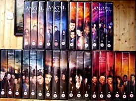 Rare. Complete set of seasons 1-5 of television series Angel on VHS