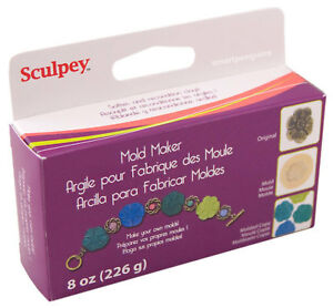 Sculpey Mold Maker Polymer Clay Super Elasticlay also Softens & Conditions Clay