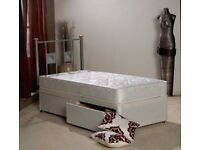 Brand new single divan bed with mattress and drawers