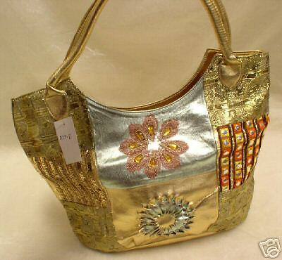 Woman Gold Handbag New Metallic Gold Sequin Beaded Hobo Purse Handbag Beaded Hobo Purse Handbag