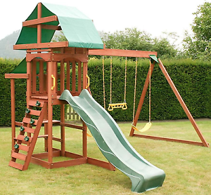 Rocky Mountain Garden Climbing Frame Swing Set Outdoor Slide Play