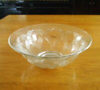 Large Clear Crystal Bowl & Set of 8 Wine Glasses
