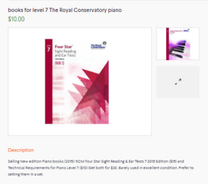 books for level 7 The Royal Conservatory piano