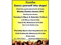 Zumba in Cardiff for 2018