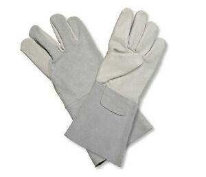 douze paires Gants de soudeur cuir dozen leather welding gloves