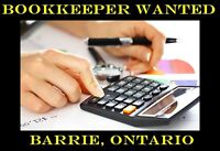 Bookkeeper Wanted in Barrie, ON