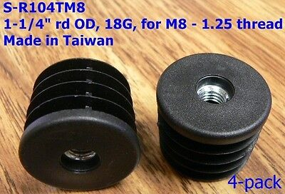 Oajen Caster Socket Furniture Insert For Metric M8 - 1.25 Thread For 1-14 Od