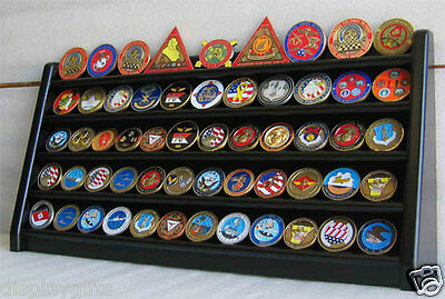 5 Row Military Challenge/Casino Coin Display Rack Case Cabinet Stand:  Coin5-BLA Row Challenge Coin Rack