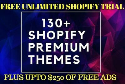130 Shopify Premium Themes And Free Store Unlimited Trial Upto 250 Ads