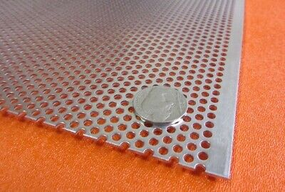 3003 Aluminum Perforated Sheet .063 Thick X 36 X 40 .125 Hole Dia.