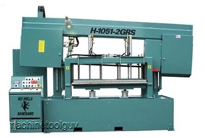 W.f. Wells 10 X 51 Gratingpanel Cutting Horizontal Band Saw