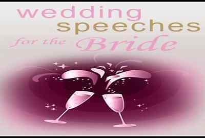 Wedding Speeches for Bride, Groom, Mother, Father, Maid of Honor/Best Man,