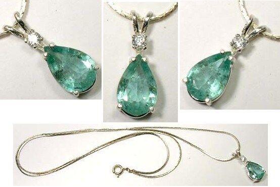 Emerald Pendant 2ct Antique 19thC Siberia King Arthur Holy Grail Charlemagne Gem