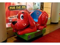Clifford the big red dog coin operated kiddie ride
