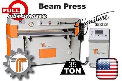 New Cjrtec 35 Ton Beam Cnc Clicker Press - Full Automatic Die Cutting Machine
