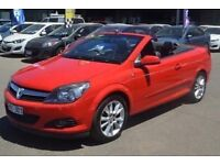 Twin top red astra convertible car 1.8 petrol 2007