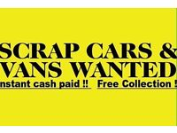 Scrap cars vans wanted damage non running spare repair collected same day