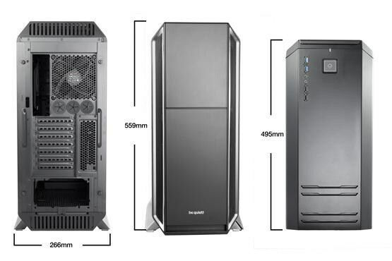 Be Quiet! Silent Base 800 Silver Full Tower Gaming Case - USB 3.0