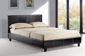 """-- """"BRAND NEW"""" -- """"CHEAPEST OFFER"""" -- BRAND NEW DOUBLE BERLIN LEATHER BED WITH MEDIUM FIRM MATTRESS"""