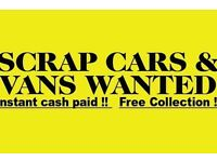 Free collection cars vans mot failures non runners spare repairs wanted