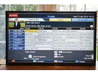 """42"""" PANASONIC TX-L42B6B LED TV FULL HD USB MOVIES COMES WITH WALL BRACKETT."""