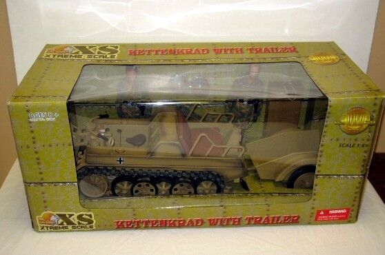 Ultimate Soldier KETTENKRAD+TRAILER+2 FIGURES 1:6 Scale ~ THIS THING IS HUGE!