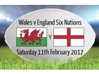 2X Wales v England 6 Nations Tickets