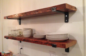 Industrial wall shelving