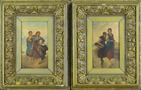 19th Century Oil On Panel - A pair