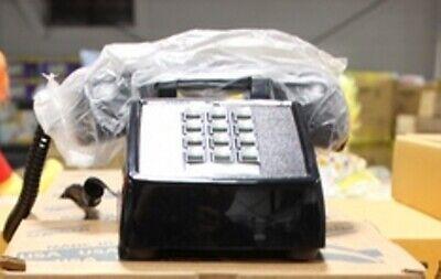 Cortelco Standard Black Desk Telephone Retro Push Button Phone 250000-VBA-20MD Standard Desk Phone