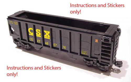 Instructions Stickers 4 Lego Csx Hopper 10133 10219 10170 4536 7939